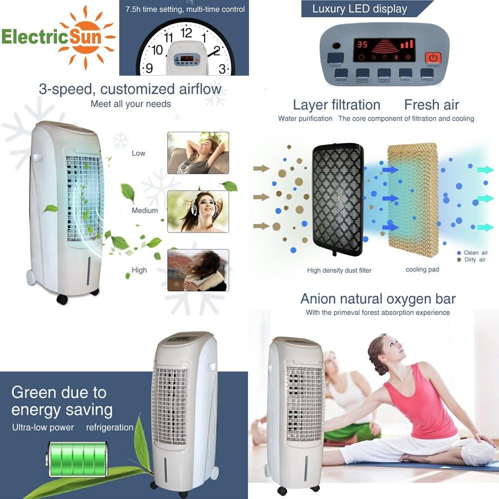 LLuftkühler ElectricSun 80W Aircooler mobile drinnen oder draußen